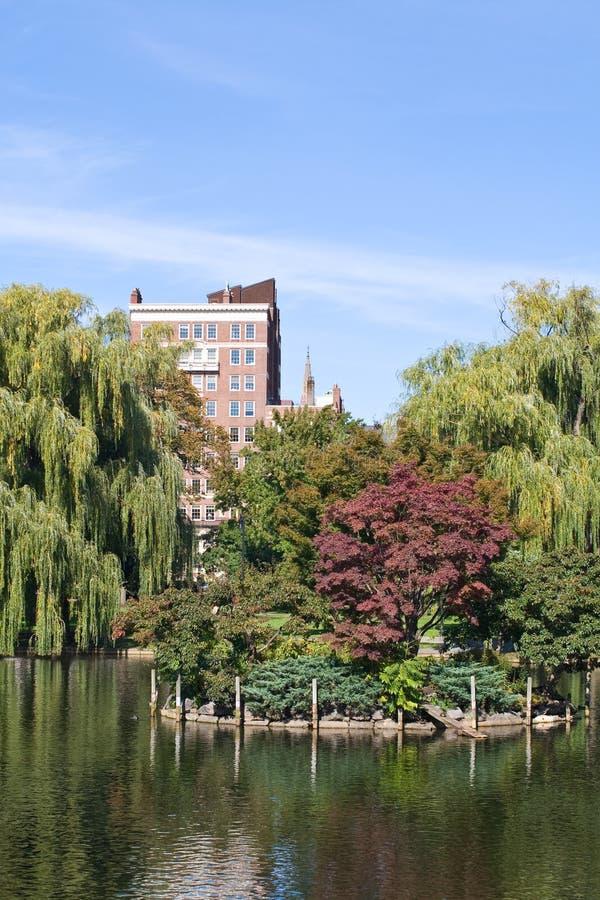 Boston Public Garden. Fall at Boston Public Garden, Boston royalty free stock photos