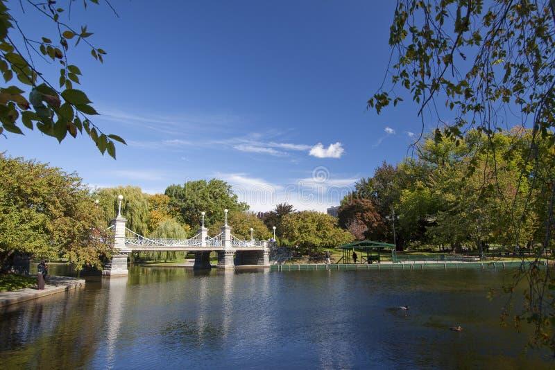 Boston Public Garden, Boston, Massachusetts stock photos