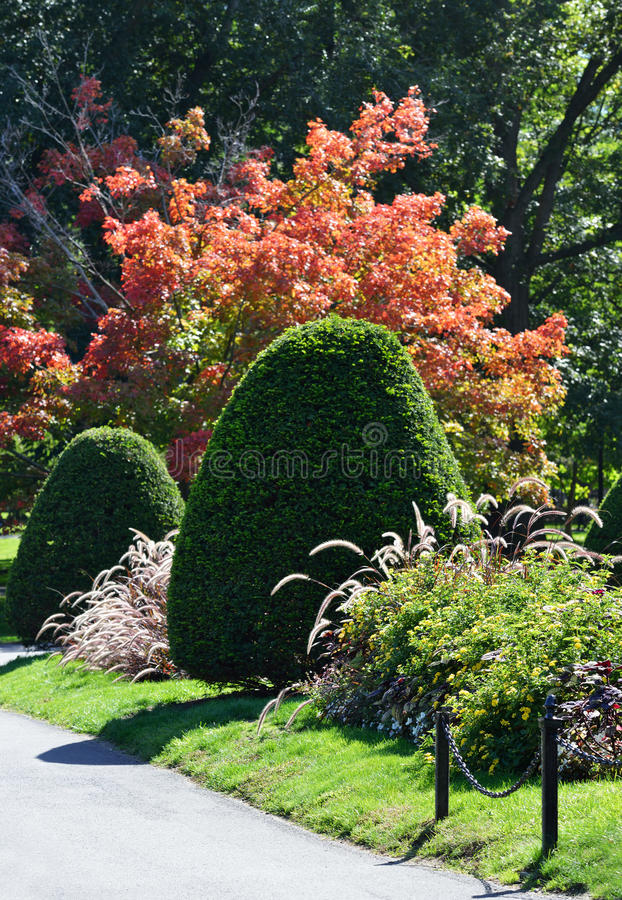 Boston Public Garden Detail. Detail of Boston Public Garden in mid fall royalty free stock photography