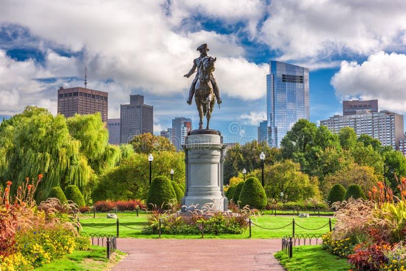 Boston Public Garden. George Washington Monument at Public Garden in Boston, Massachusetts royalty free stock photo