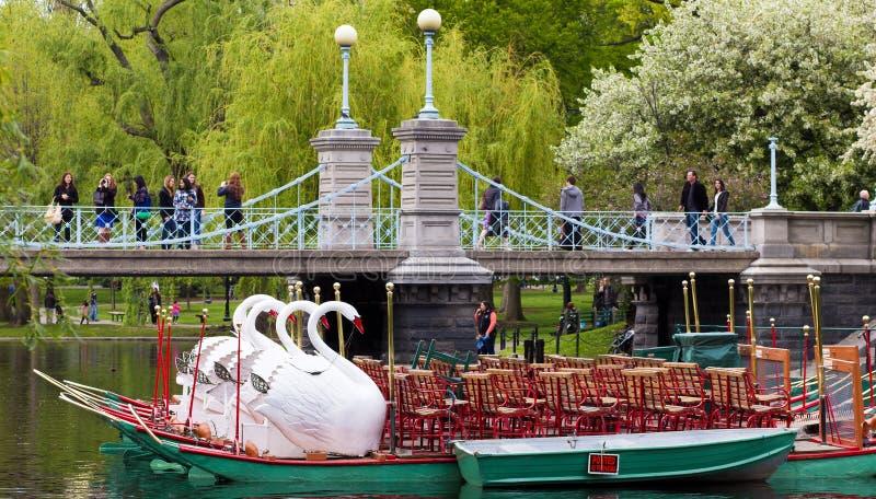 Boston Public Garden In The Spring Editorial Photography