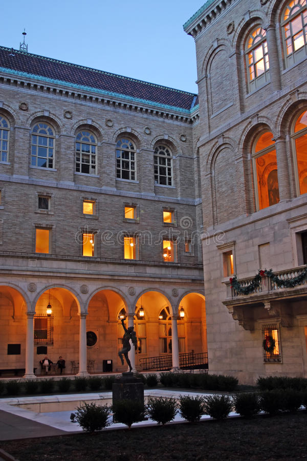 The Boston Public Library is one of the largest municipal public library systems in the United States.  stock photography