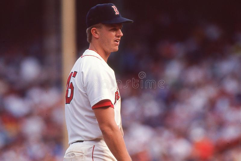 Boston Red Sox bazowy Scott 3rd bednarz obrazy royalty free