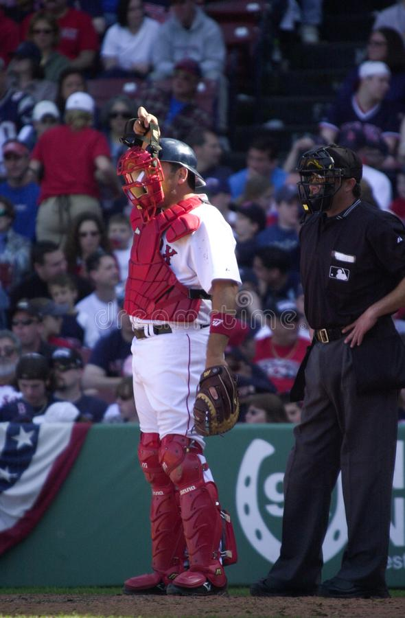 Doug Mirabelli, Boston Red Sox. Boston Red Sox catcher Doug Mirabelli. Image taken from a color slide stock photography