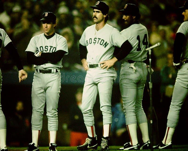 1986 Boston Red Sox mistrzostwa świata obrazy stock