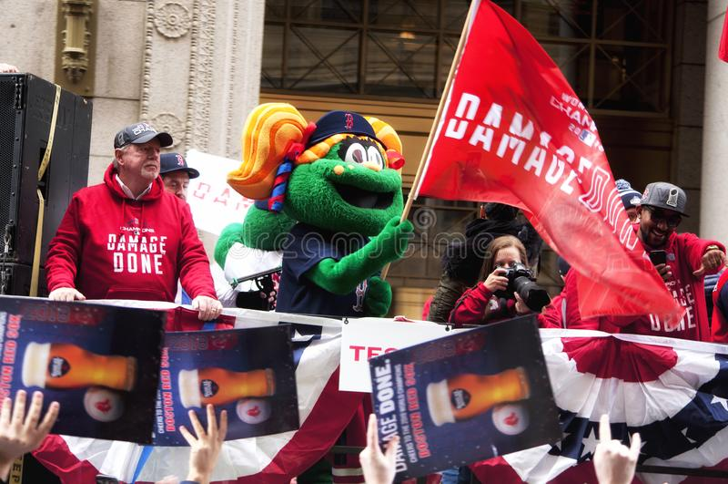 Boston Red Sox 2018 ståtar arkivbild