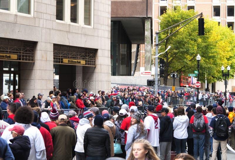 Boston Red Sox 2018 ståtar arkivbilder