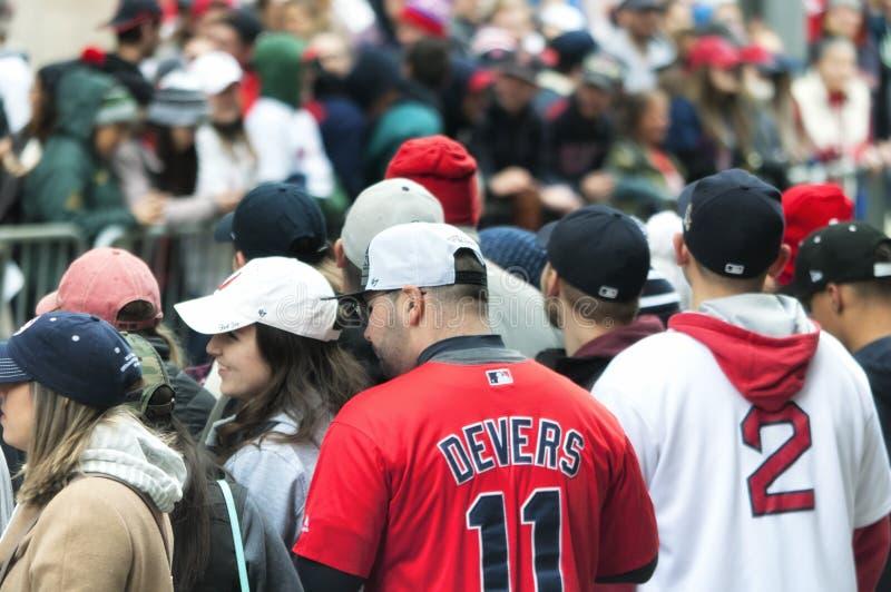 Boston Red Sox 2018 ståtar royaltyfria foton