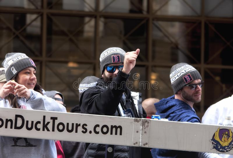 Boston Red Sox 2018 ståtar fotografering för bildbyråer