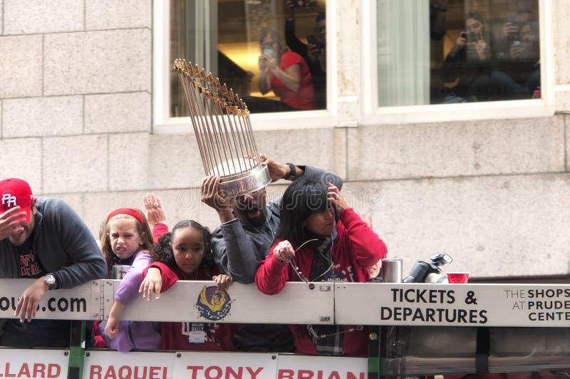 Boston Red Sox 2018 ståtar royaltyfri bild