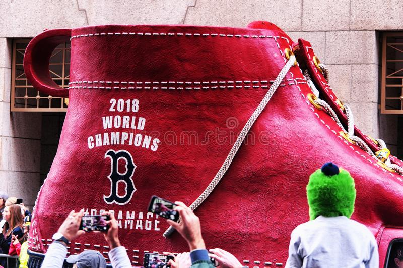 Boston Red Sox 2018 ståtar arkivfoton