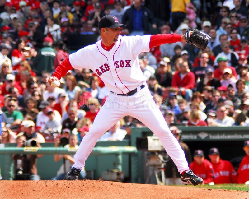 Boston Red Sox tim wakefield fotografering för bildbyråer