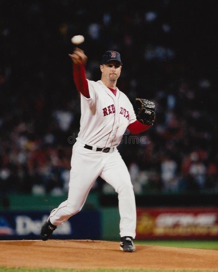 Boston Red Sox tim wakefield arkivbild