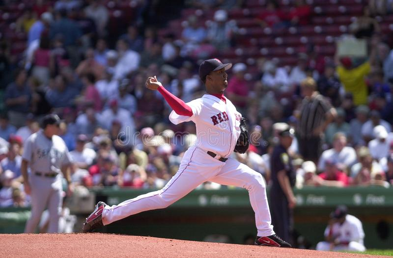 Boston Red Soxstartkanna Pedro Martinez royaltyfri bild