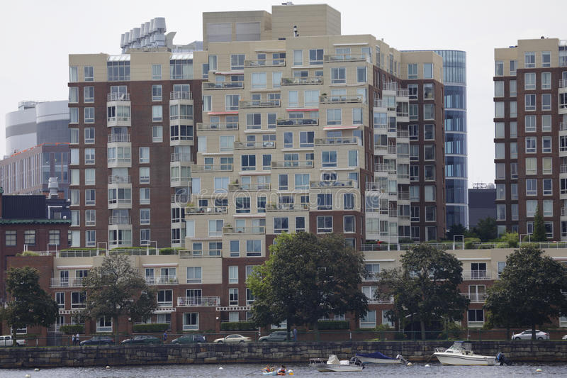 Boston residential architecture. BOSTON, MA, USA - JULY 1, 2017: Stock photo of boston MA residential architecture stock photo