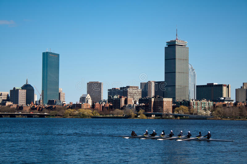 Boston-Ruderer lizenzfreie stockfotos