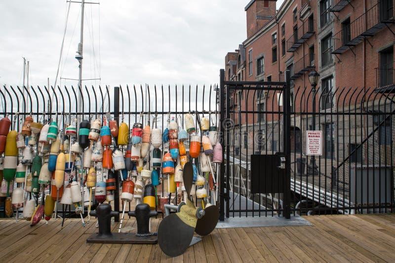 Boston ` s schronienie przy zmierzchem obraz royalty free