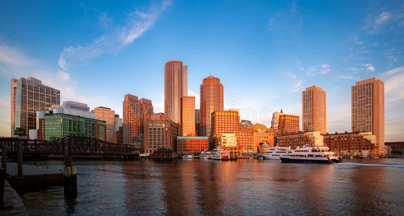 Boston schronienia ranku wschód słońca zdjęcie royalty free