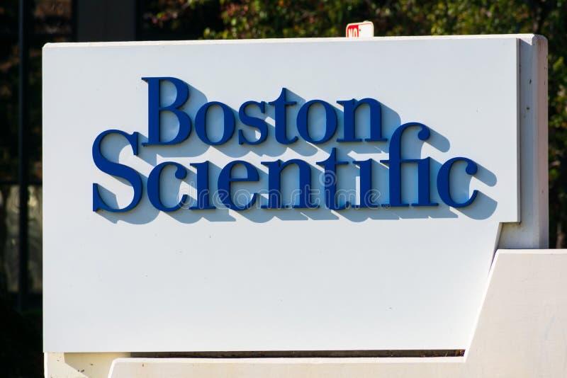 Boston Scientific Sign på tillverkaren av medicintekniska produkter Silicon Valley-kontoret arkivfoton