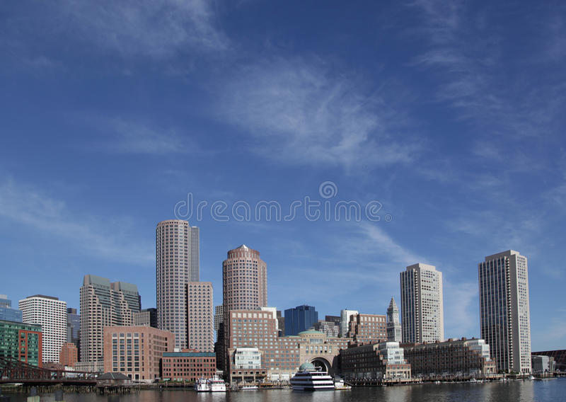 Download Boston skyline stock image. Image of river, dock, boats - 14528173