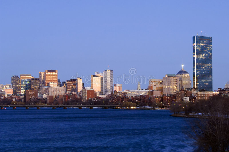 Boston skyline stock photo