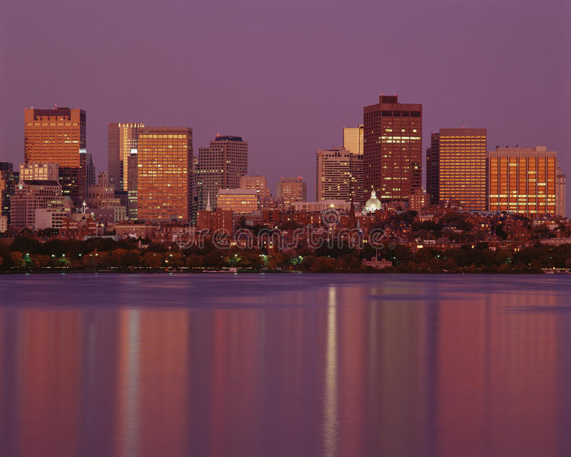 Download Boston skyline editorial stock image. Image of reflection - 23161374