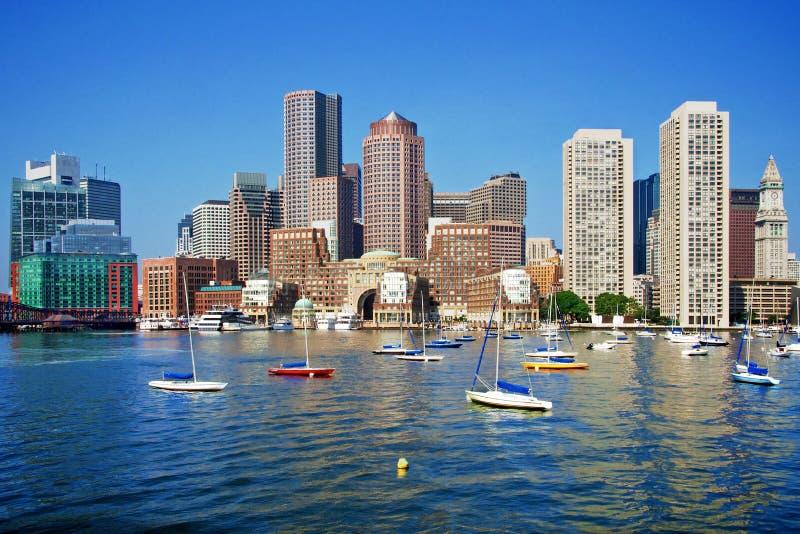 Boston Skyline. On a Gorgeous Day stock image