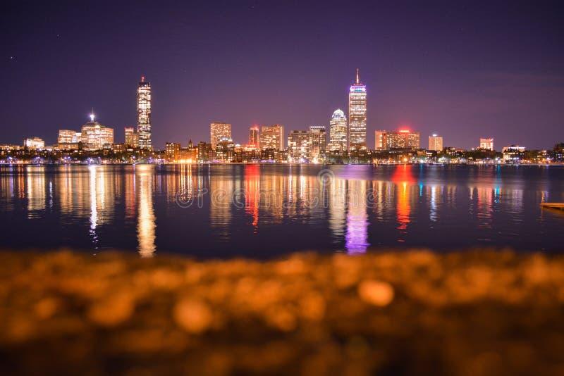 Boston-Skyline stockbilder