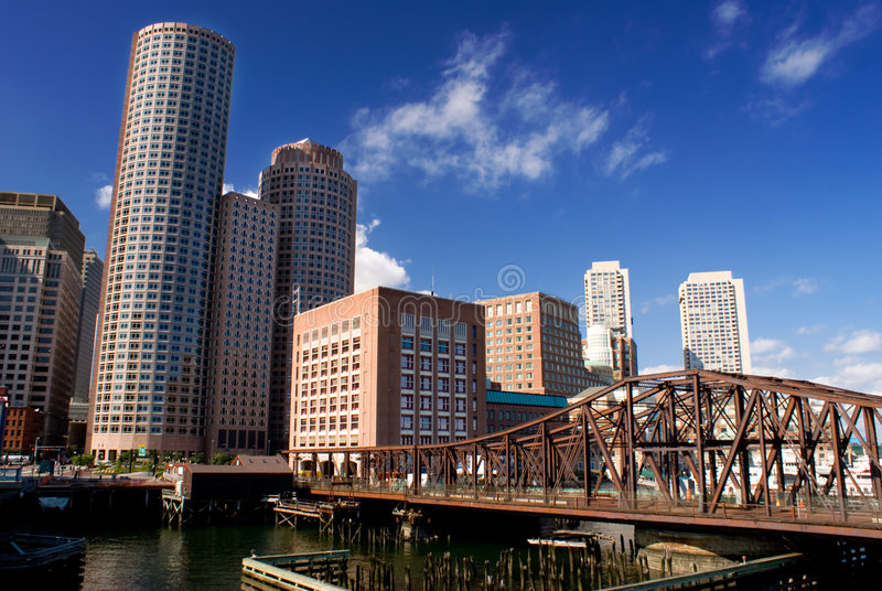 Boston Skyline. On a summer day royalty free stock images