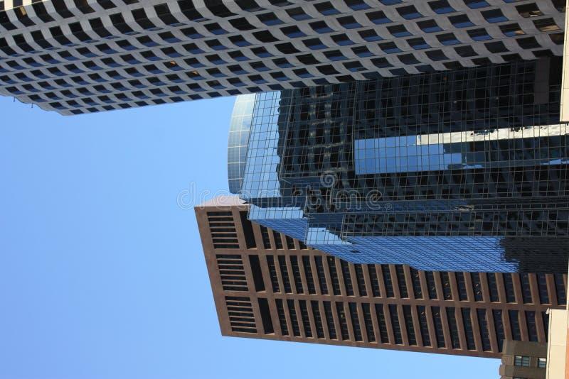 Boston skyline achitecture detail. The Boston city skyline architecture detail royalty free stock photography