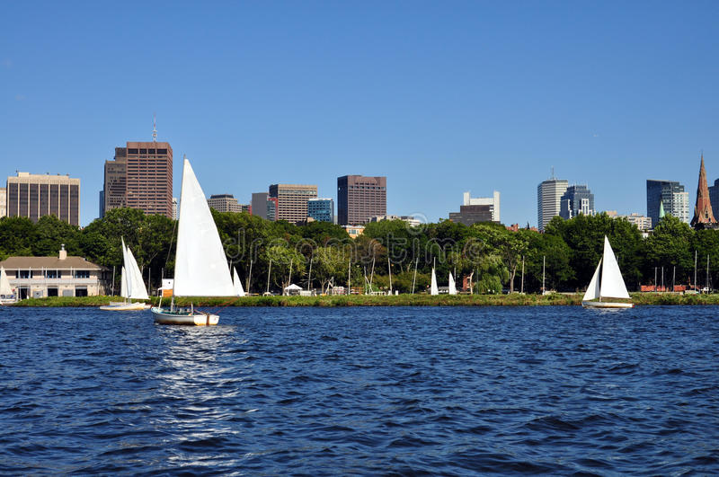 Download Boston Skyline From Charles River Royalty Free Stock Image - Image: 20756886