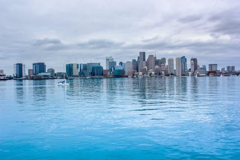 Boston Skyline. Skyline of Boston city and harbor royalty free stock image