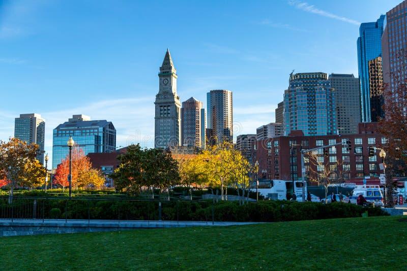 Boston Skyline. Boston, Massachusetts skyline on a fall day royalty free stock image