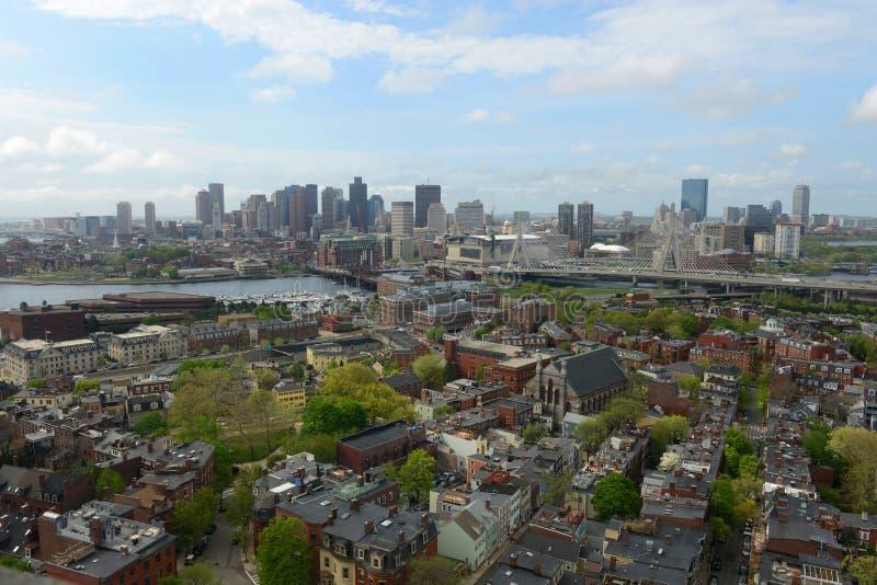 Boston-Skyline, Massachusetts, USA lizenzfreie stockfotografie
