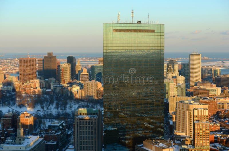 Boston-Skyline, Massachusetts, USA lizenzfreie stockbilder