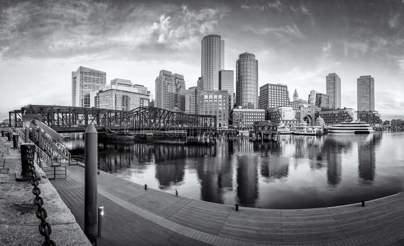 Boston. The skyline of Boston in Massachusetts, USA with its mix of modern and historic architecture royalty free stock photo
