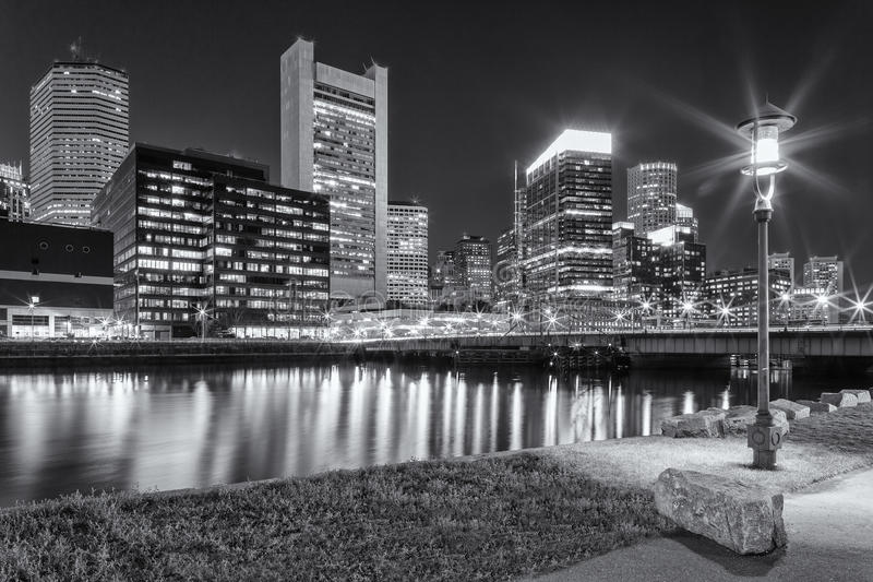 Boston. The skyline of Boston in Massachusetts, USA with its mix of modern and historic architecture royalty free stock images