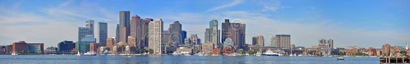 Boston-Skylinepanorama, USA lizenzfreies stockfoto