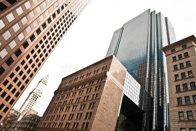 Boston skyskrapor royaltyfria foton