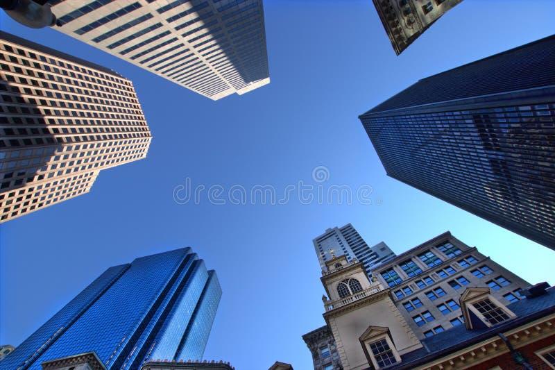 Boston skyskrapor royaltyfri foto