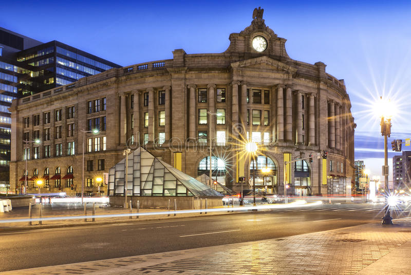 The Boston South Station stock image
