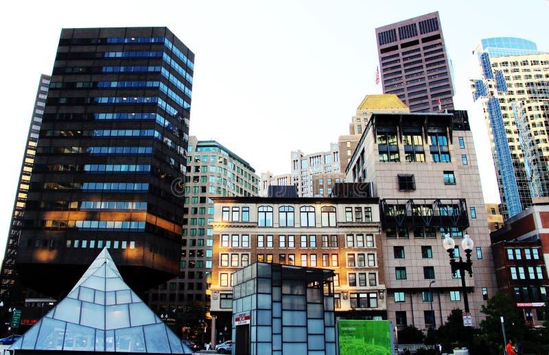 Boston Southstation Van de binnenstad royalty-vrije stock afbeeldingen