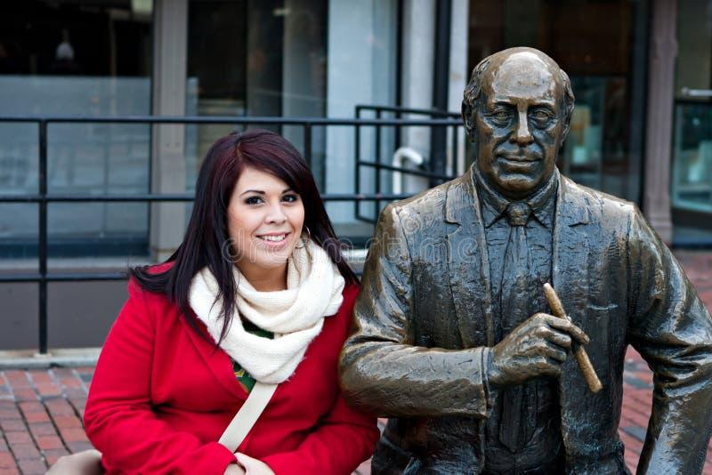 Boston Społeczeństwa Statua zdjęcia stock