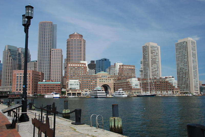 Boston stadshorisont royaltyfria foton