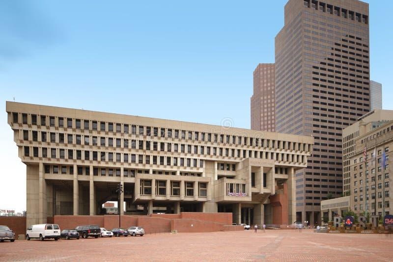 Boston stadshus royaltyfria bilder