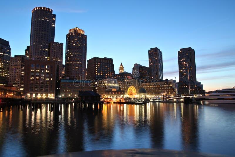 Boston-Stadt-Skyline stockbild