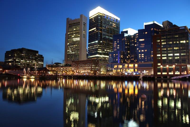 Boston-Stadtnacht stockbild