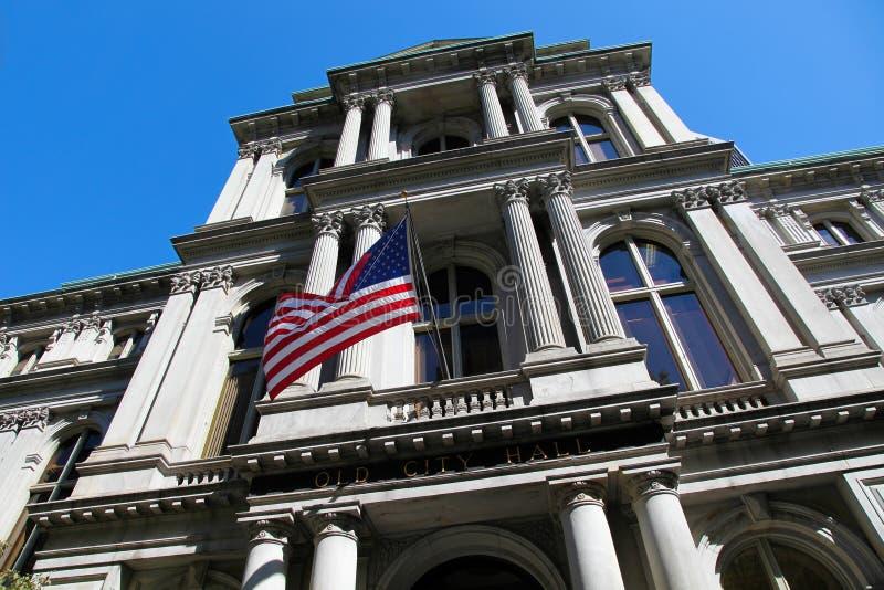 Boston Stary urząd miasta obraz royalty free