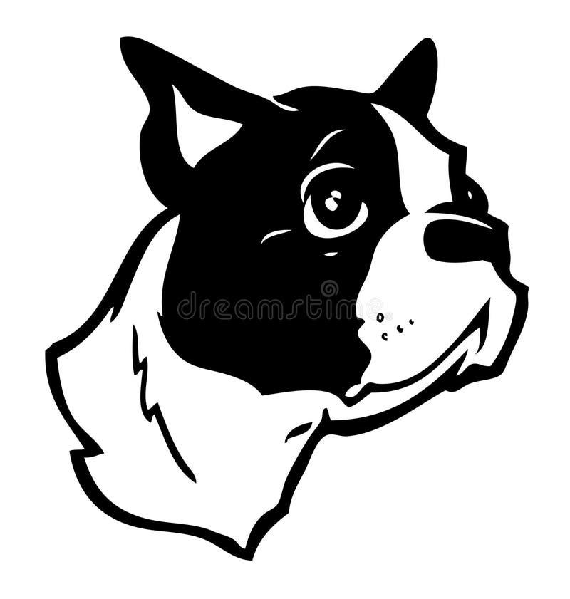 Boston-Terrier-Abbildung vektor abbildung