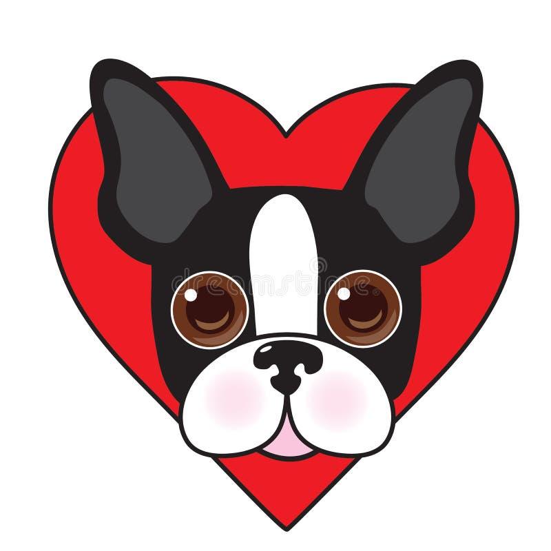 Boston Terrier hace frente libre illustration